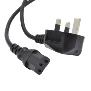 2 meter IEC C13 lead with UK mains plug