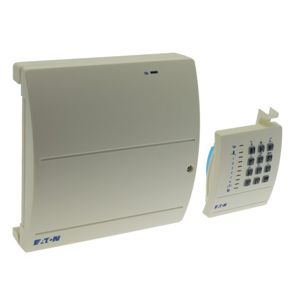 Wired 7 zone intruder alarm panel sold with 9427 remote keypad