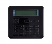 Flush mount keypad - piano black finish