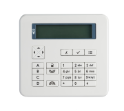 Flush mount keypad - bright white finish