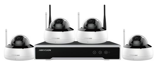 NK44W1H-1T(WD) 4 Channel NVR 4MP Fixed Dome Wifi Kit
