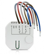 Wireless 2-channel in-wall 230VAC controller compatible with ABAX-2