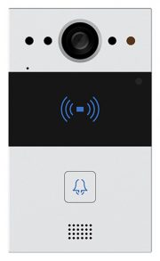 Compact SIP Intercom with 1 Call Button (Video & RFID Card Reader), incl. Surface Mount Backbox