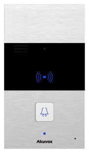 SIP Intercom with 1 Call Button (Audio & RFID Card Reader), incl. Surface Mount Backbox