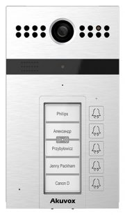 SIP Intercom with 5 Buttons. Video & Card Reader, including Surface Mount Frame