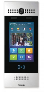SIP Touchscreen Intercom with Camera, RFID Card Reader and QR Code Scanner