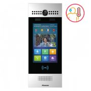 SIP Touchscreen Intercom with dual cameras with Face Recognition and body temperature measurement